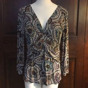 Print pullover blouse
